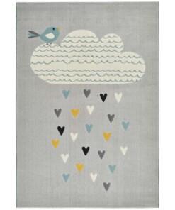 Kinderkamer vloerkleed Lovely Rainfall - grijs/multi - overzicht boven, thumbnail