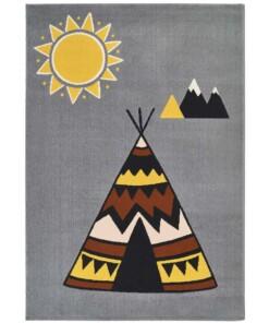 Kinderkamer vloerkleed Young wilderness -grijs/multi - overzicht boven, thumbnail