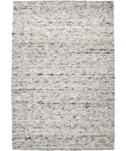 Wollen vloerkleed handweef Sau - grijs - overzicht boven