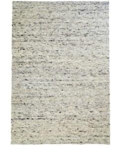 Wollen vloerkleed handweef Veve - grijs/crème - overzicht boven