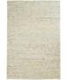 Wollen vloerkleed handweef Veve - grijs/crème - overzicht boven, thumbnail