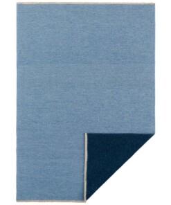 Effen vloerkleed Duo - lichtblauw/donkerblauw - overzicht boven