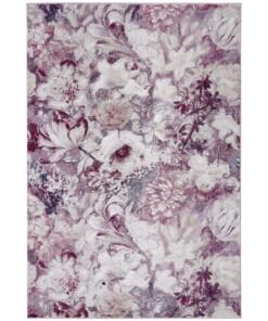 Vloerkleed bloemen Flower Symphony - roze/crème - overzicht boven, thumbnail