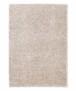 Hoogpolig vloerkleed effen Classic - beige - overzicht boven, thumbnail