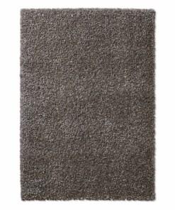 Hoogpolig vloerkleed effen Classic - donkergrijs - overzicht boven