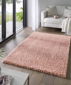 Hoogpolig vloerkleed effen Classic - roze - sfeer, thumbnail
