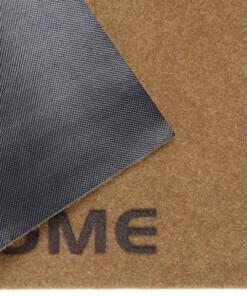 Deurmat Welcome kokos-optiek - bruin/grijs - close up