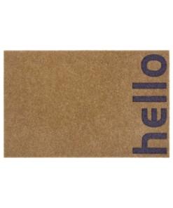 Deurmat Hello kokos-optiek - bruin/grijs - overzicht boven, thumbnail