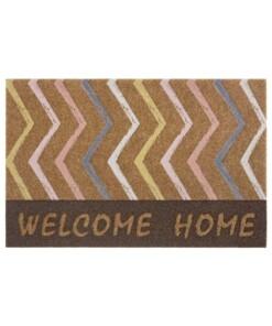 Deurmat Welcome Home kokos-optiek - bruin/multi - overzicht boven, thumbnail