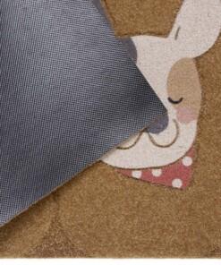 Deurmat Dogs kokos-optiek - bruin - close up