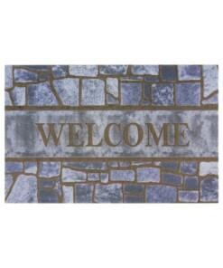 Deurmat Welcome Steps - grijs/bruin - overzicht boven, thumbnail
