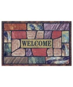 Deurmat Welcome Mosaic - multi - overzicht boven, thumbnail
