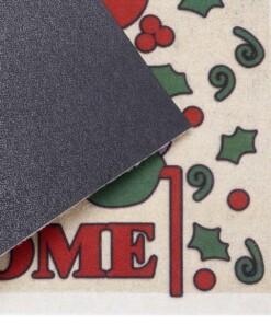 Deurmat Welcome Santa - Beige - close up