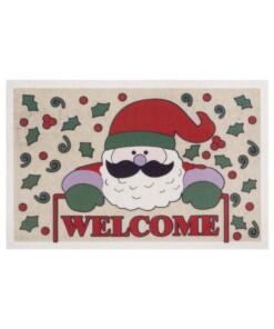 Deurmat Welcome Santa - Beige - overzicht boven, thumbnail