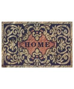 Deurmat Home Swirls - beige/grijs - overzicht boven, thumbnail