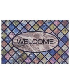 Deurmat Welcome Tiles - multi - overzicht boven, thumbnail