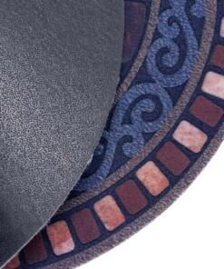 Deurmat halfrond Tiles - multi - close up
