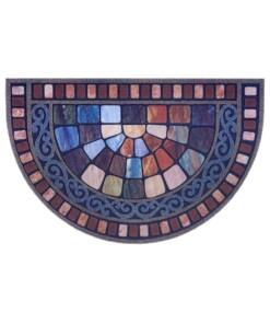 Deurmat halfrond Tiles - multi - overzicht boven, thumbnail