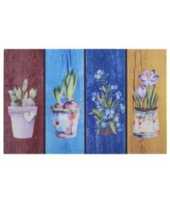 Deurmat Colorful Plants - multi - overzicht boven, thumbnail