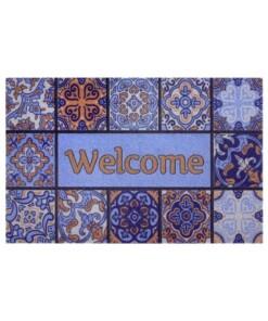 Deurmat Welcome Patterns - multi - overzicht boven, thumbnail