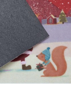 Deurmat Merry Christmas - rood - close up