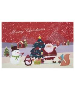 Deurmat Merry Christmas - rood - overzicht boven, thumbnail