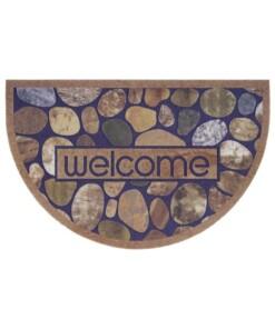 Deurmat halfrond Welcome Stones - multi - overzicht boven, thumbnail