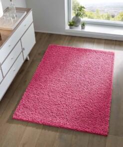 Hoogpolig vloerkleed effen Spectrum - roze - sfeer, thumbnail