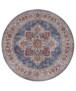 Rond vintage vloerkleed Anthea - mauve roze - overzicht boven, thumbnail