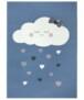 Kindervloerkleed wolken Happy - crème - overzicht boven, thumbnail