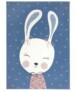 Kindervloerkleed bunny Happy - roze - overzicht boven, thumbnail