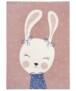 Kindervloerkleed bunny Happy - grijs - overzicht boven, thumbnail