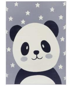 Kindervloerkleed panda Smile - grijs - overzicht boven