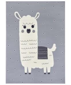 Kindervloerkleed alpaca Smile - grijs - overzicht boven
