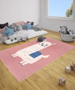Kindervloerkleed alpaca Smile - roze - sfeer, thumbnail