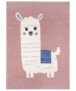 Kindervloerkleed alpaca Smile - grijs/mosterdgeel - overzicht boven, thumbnail