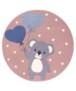 Rond kindervloerkleed beer Beauty - grijs - overzicht boven, thumbnail