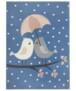 Kindervloerkleed vogels Lovely Birds - roze - overzicht boven, thumbnail