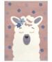 Kindervloerkleed lama Lonetta - grijs - overzicht boven, thumbnail