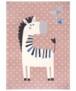 Kindervloerkleed zebra Zibbie - blauw - overzicht boven, thumbnail