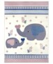 Kindervloerkleed olifant Happy - grijs/geel - overzicht boven, thumbnail