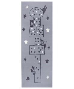 Speelkleed Hink Stap Sprong - grijs - overzicht boven, thumbnail