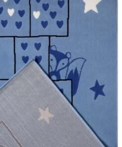 Speelkleed Hink Stap Sprong - blauw - close up