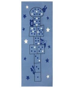 Speelkleed Hink Stap Sprong - blauw - overzicht boven, thumbnail