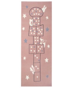 Speelkleed Hink Stap Sprong - roze - overzicht boven, thumbnail