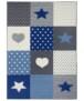 Kindervloerkleed blokken Lovely Stars - crème/lichtblauw - overzicht boven, thumbnail