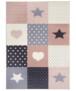 Kindervloerkleed blokken Lovely Stars - grijs/blauw - overzicht boven, thumbnail