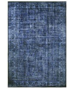 Vintage vloerkleed Perceval - donkerblauw - overzicht boven