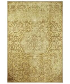 Vintage vloerkleed Adeline - goud - overzicht boven