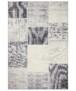 Patchwork vloerkleed Calvin - goud - overzicht boven, thumbnail